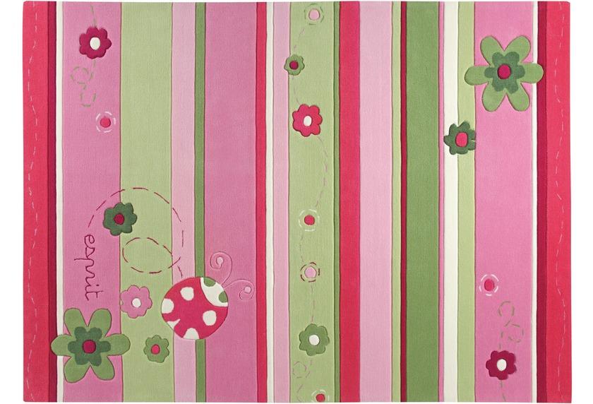 ESPRIT Kinder-Teppich, Ladybird ESP-2982-01 rosa/pink, Öko-Tex 100 zertifiziert