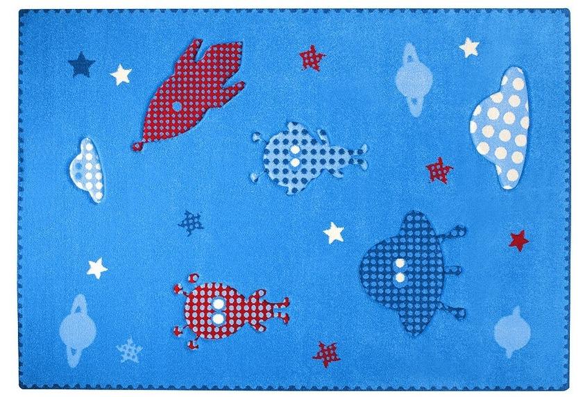Kinderteppich esprit  ESPRIT Kinder Teppich, Little Astronauts ESP-8021-03 blau, Öko-Tex ...