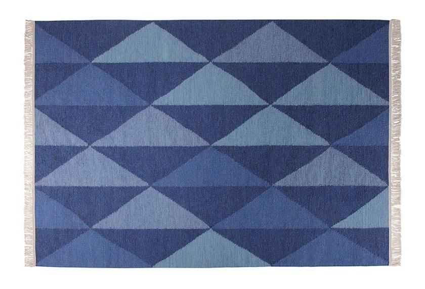 ESPRIT Teppich, Natural Triangular ESP701601 blau im