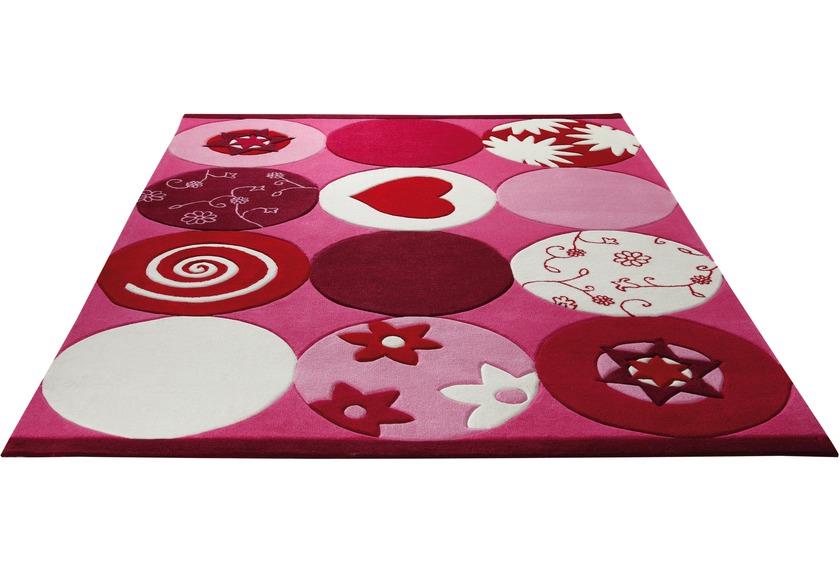 ESPRIT Kinder-Teppich, Pink Heart ESP-2975-01 rosa/pink, �ko-Tex 100 zertifiziert
