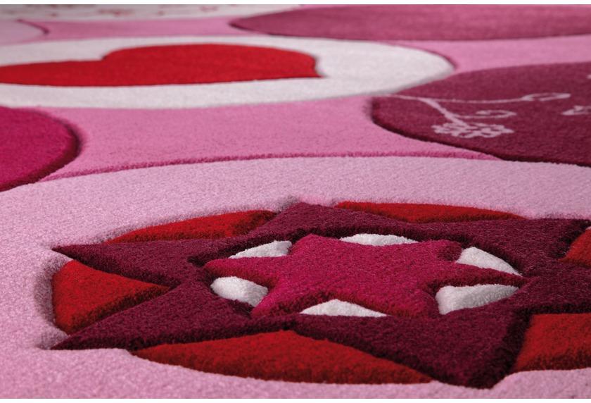 ESPRIT Kinder-Teppich, Pink Heart ESP-2975-01 rosa/pink, Öko-Tex 100 zertifiziert