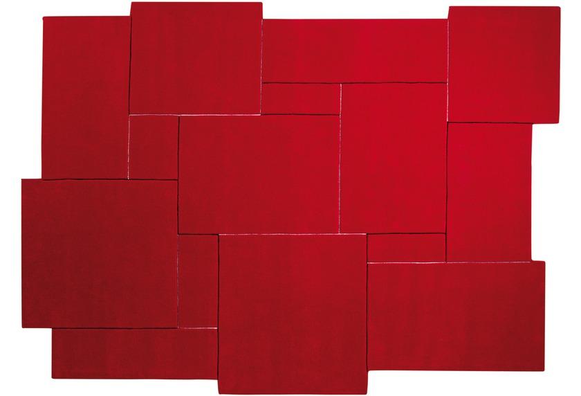 ESPRIT Teppich, Puzzle ESP-3119-04 rot