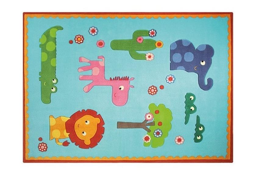 ESPRIT KinderTeppich, Zoo ESP363402 türkis, ÖkoTex 100