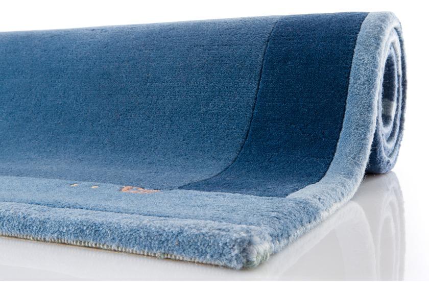 ghorka exclusive nepal teppich 5001 blau teppich nepalteppich bei tepgo kaufen versandkostenfrei. Black Bedroom Furniture Sets. Home Design Ideas