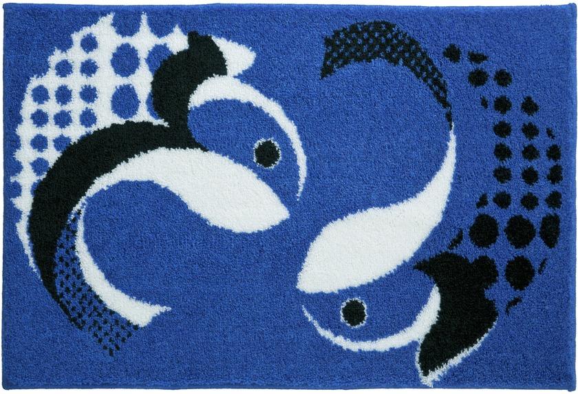 GRUND , Badteppich, FISCHE 247 blau Badteppiche bei tepgo