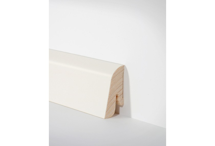 hometrend holz sockelleiste 19x38 mm weiss furniert lackiert 250 cm paketinhalt 2 5 m. Black Bedroom Furniture Sets. Home Design Ideas
