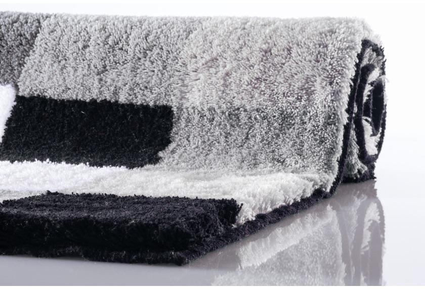 kleine wolke badteppich caro schwarz badteppiche bei tepgo kaufen versandkostenfrei. Black Bedroom Furniture Sets. Home Design Ideas
