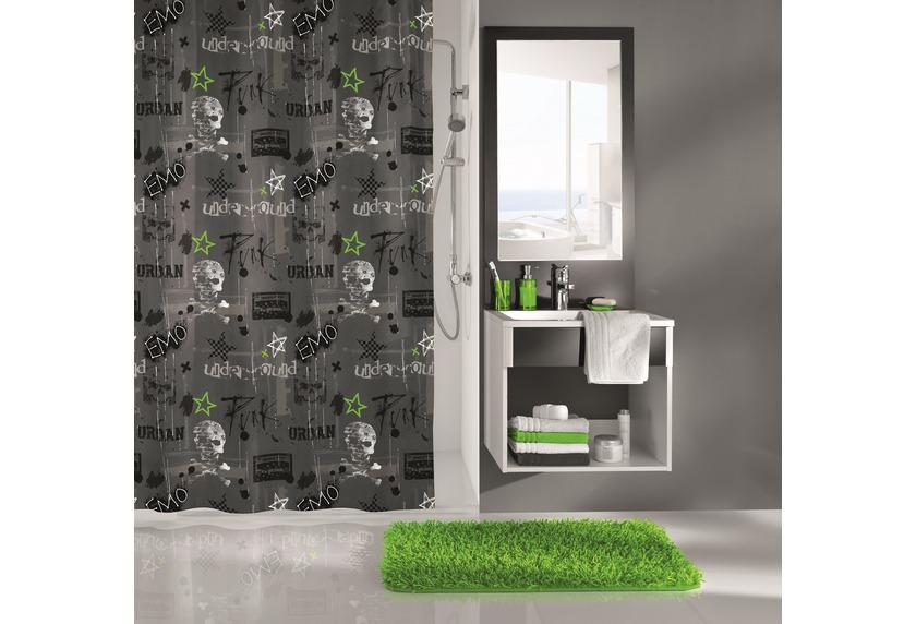 kleine wolke duschvorhang punk anthrazit 180x200 cm. Black Bedroom Furniture Sets. Home Design Ideas