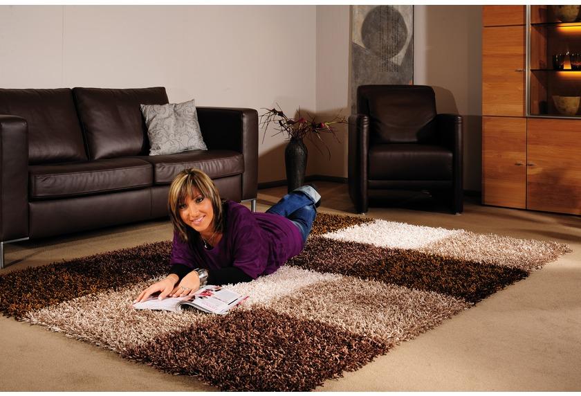 Bilder - Luxor Living Teppich Faenza Karo beige-braun -