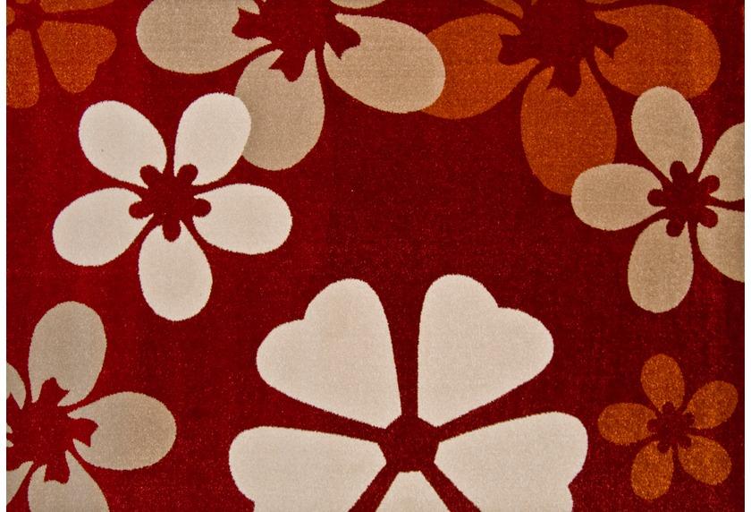 Luxor Living Teppich Frize rot 6127 Moderner Teppich bei ...