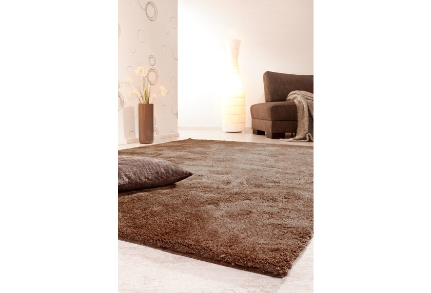 Luxor Living Hochflor-Teppich Monza braun Teppich Hochflor ...