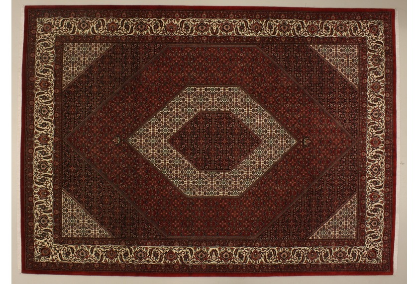 Oriental Collection Bidjar m.Seide rot 75981, Perser-Teppich