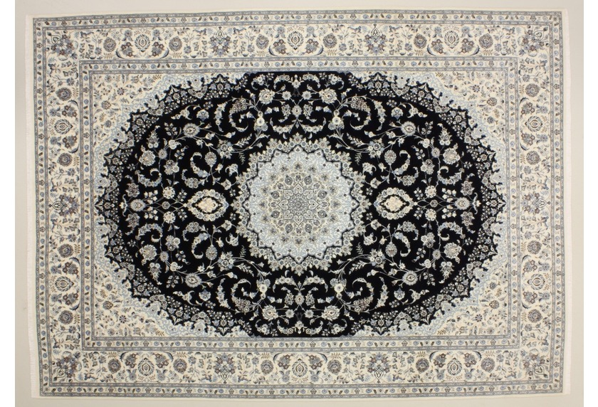 oriental collection nain 6la blau 76002 orient teppich teppich orientteppiche bei tepgo kaufen. Black Bedroom Furniture Sets. Home Design Ideas