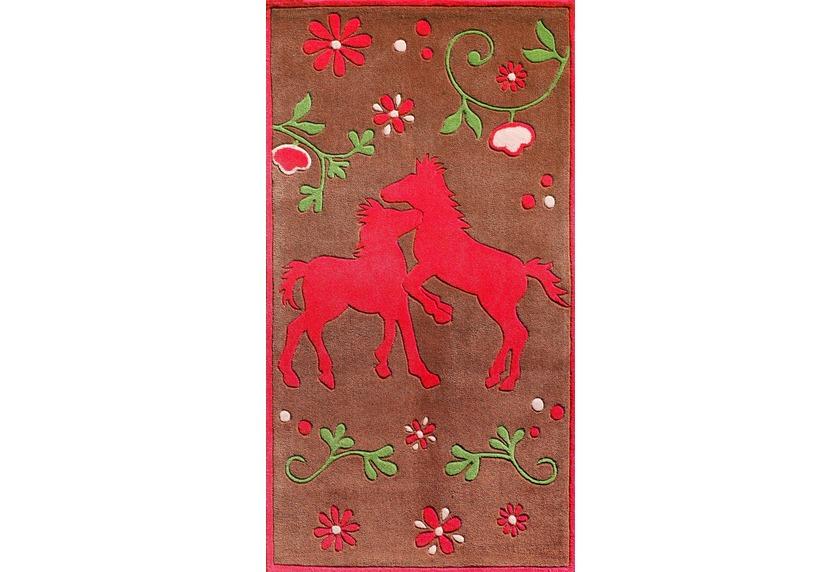 Pferdefreunde Pferde Teppich braun