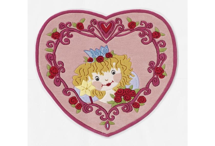Prinzessin Lillifee Herz Kinder-Teppich, Öko-Tex zertifiziert