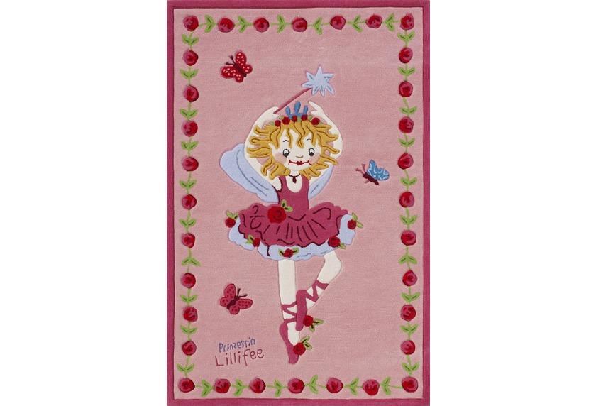 Prinzessin Lillifee Ballett KinderTeppich rosapink, Öko