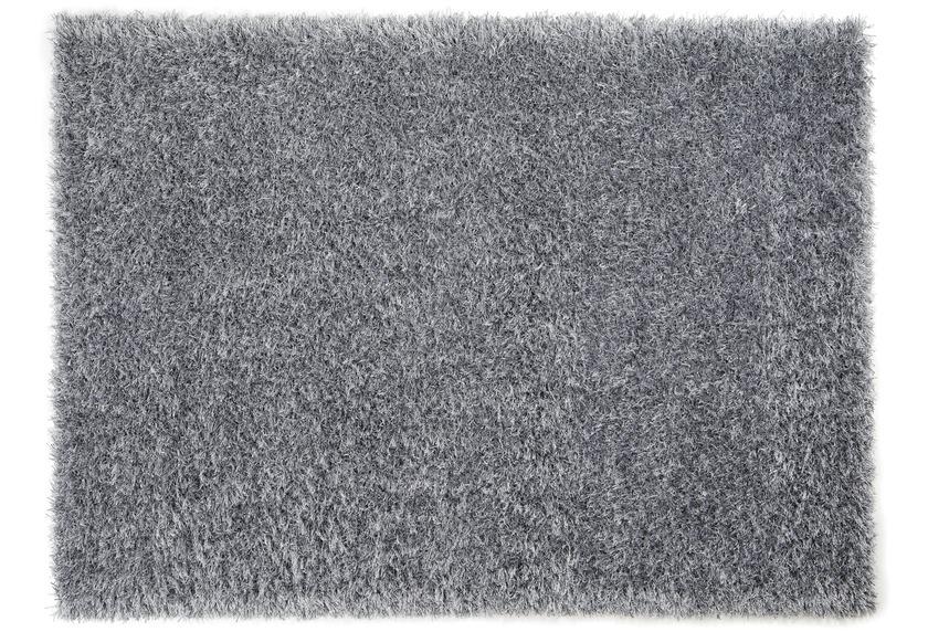 Schöner Wohnen Hochflor-Teppich, Feeling, silber, 55 mm Florhöhe