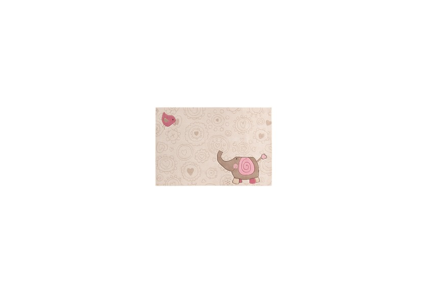 Sigikid Kinder-Teppich, Happy Zoo, Elephant SK-3342 beige