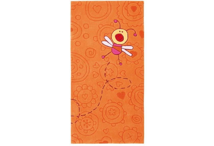Sigikid Kinder-Teppich, Happy Zoo, Summ-Summ SK-3340-01 terrakotta/orange