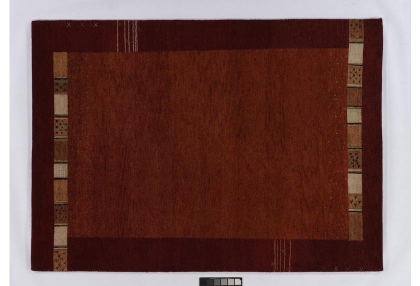 Tadj, Gabbeh Teppich, 240 rost, handgeknüpft mit argentinischer Schurwolle