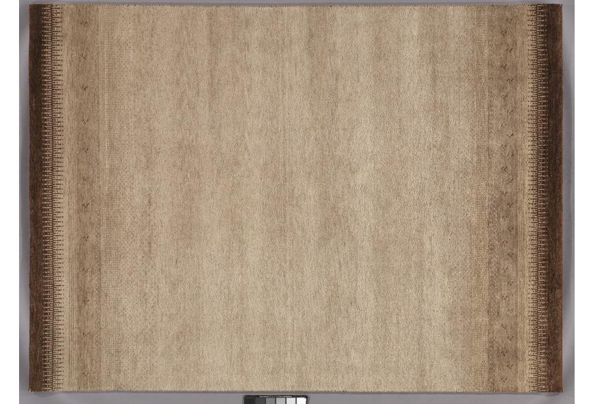 Tadj, Gabbeh Teppich, 2902 braun, handgekn�pft mit argentinischer Schurwolle