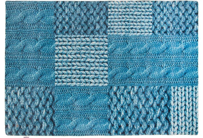 tom tailor teppich happy patchwork knit t rkis. Black Bedroom Furniture Sets. Home Design Ideas