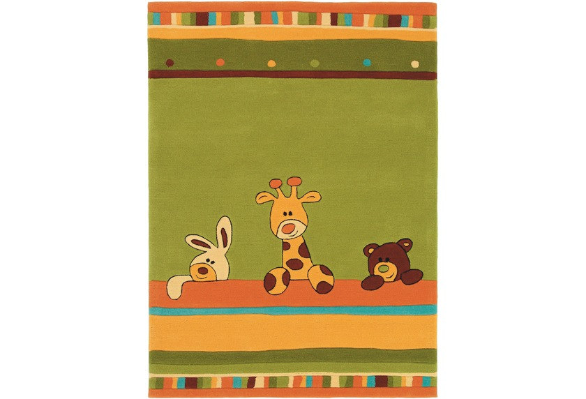 Kinderteppich tiere  Wissenbach Kinder-Teppich Lifestyle Kids 2283 grün Tiere Zoo ...