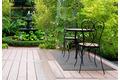Andiamo In- und Outdoorteppich Bambus grau uni