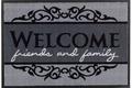 Astra Fussmatte Homelike Welcome grau 50x70
