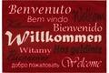 Astra Fussmatte Homelike Willkommen rot oR 50x70