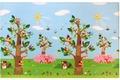 Vorne BABY CARE Spielmatte Birds in the Trees 13mm 140x210