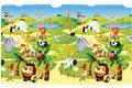 Vorne Dwinguler Spielmatte Zoo 15mm 130x190