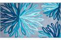 GRUND Badteppich ART türkis/grau