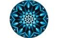 GRUND Mandala ERKENNTNIS blau