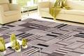 Handwebteppich FLASH HOUSE 1604 black/beige gemustert