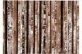 Kelii Leder-Teppich Luna Trend Stripe-16 natural/braun Lederteppich,Designerteppich