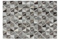 Kayoom Lederteppich Lavish 310 Grau Vintage/Patchwork