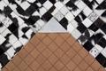 Luxor Living Teppich Rinderfell, schwarz weiß 120cm x 180cm
