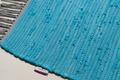 Tom Tailor Teppich Cotton Colors, Uni, türkis Kelim