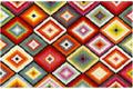 Wecon home Kurzflor-Teppich Remix Kelim WH-22865-110 rot