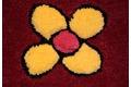 Wissenbach Kinder-Teppich Lifestyle Kids 3168 rosa Bauernhof Tiere