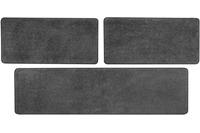 Andiamo Bettumrandung Shaggy, grau-braun 2x 67 cm x 140 cm 1x 67 cm x 250 cm