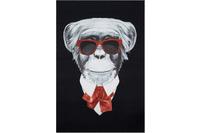 Andiamo Teppich Karl der Affe schwarz mit Motiv 100 x 150 cm