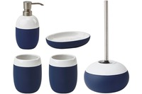 Aquanova Badaccessoires Set GRADIENT (Seifenspender, WC-Garnitur, Kosmetikablage, 2x Becher)