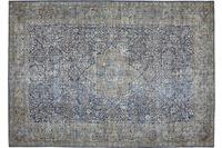 Barbara Becker Teppich Loft Blau-Gelb gemustert