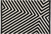 carpets&co. Teppich Edgy Corners GO-0011-01 schwarz-weiss