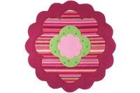 ESPRIT Kinder-Teppich, Flower Shape ESP-2840-06 rosa/ pink, Öko-Tex 100 zertifiziert