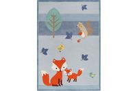 ESPRIT Kinderteppich E-FOX IN THE WOOD ESP-4371-03 blau