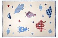 ESPRIT Kinder Teppich, Little Astronauts ESP-8021-02 weiss, Öko-Tex 100 zertifiziert