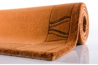 Nepal-Teppich, Ghorka exclusive, caramel, 170, aus reiner Schurwolle, 10 mm Florhöhe